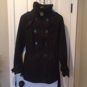 Pea Coat. Black. Size Large.